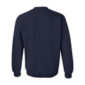 Hail Outline University of Michigan Bella Sponge Fleece Crewneck Sweatshirt - Navy Triblend