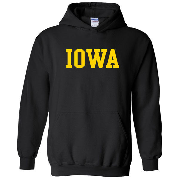 University of Iowa Hawkeyes Basic Block Hoodie - Black