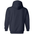 Hail Outline Canvas Fleece Pullover Hood - Navy