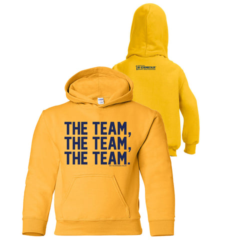Bo Schembechler The Team The Team The Team Youth Hoodie - Gold