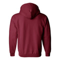 Indiana University Hoosiers Vertical Block Left Chest Zip Hoodie - Cardinal