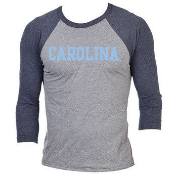 Carolina Triblend 3/4 Sleeve - Vtg Navy/Prem Heather