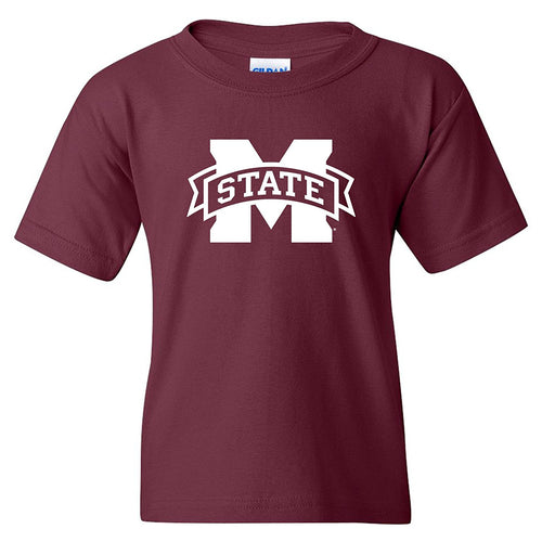 AY02 - Mississippi State Primary Logo Youth - Maroon