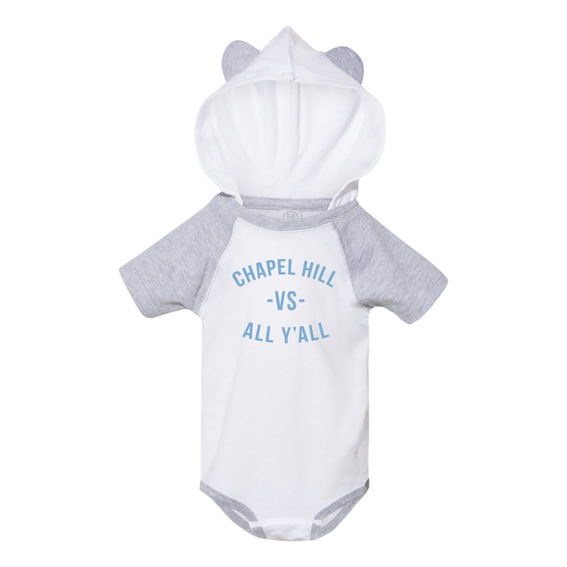 Chapel Hill VS All Y'all Bear Ears Infant Creeper - White/Grey