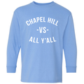 Chapel Hill Vs All Y'All Long Sleeve Youth - Carolina Blue