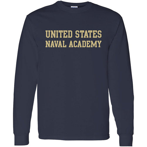 United States Naval Academy Midshipmen Basic Block Long Sleeve T-Shirt - Navy