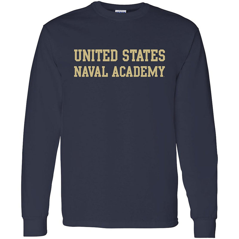 AL01 - United States Naval Academy Midshipmen Basic Block Long Sleeve - Navy