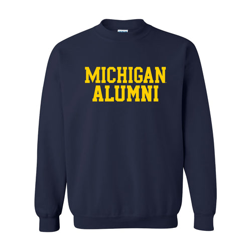 University of Michigan Alumni Heavy Blend Crew Sweatshirt - Navy