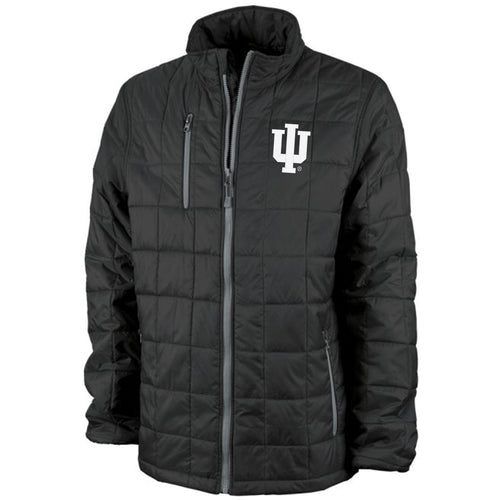 Indiana Primary Logo LC EMB - Quilted Jacket - Black/Grey