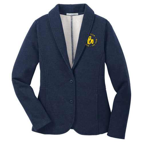 Bo TTT Circle EMB University of Michigan Port Authority Ladies Blazer - Dark Navy Heather