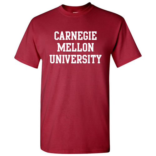 Carnegie Mellon University Tartans Basic Block Short Sleeve T-Shirt - Cardinal