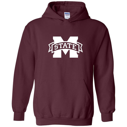 Mississippi State University Bulldogs M-State Logo Hoodie - Maroon