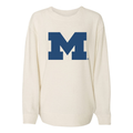 Primary Logo Michigan Boxercraft Cozy Crew - Oatmeal
