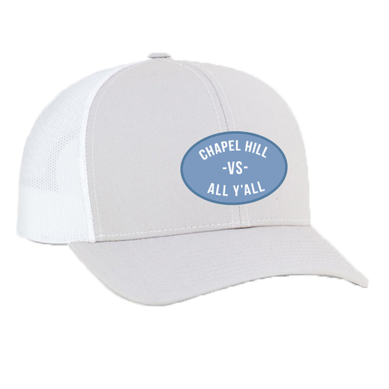 Chapel Hill Vs All Yall Patch Snapback Trucker Hat - Silver/White