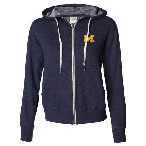 Block M University of Michigan Independent Trading Co. French Terry Hoodie - Navy Heather