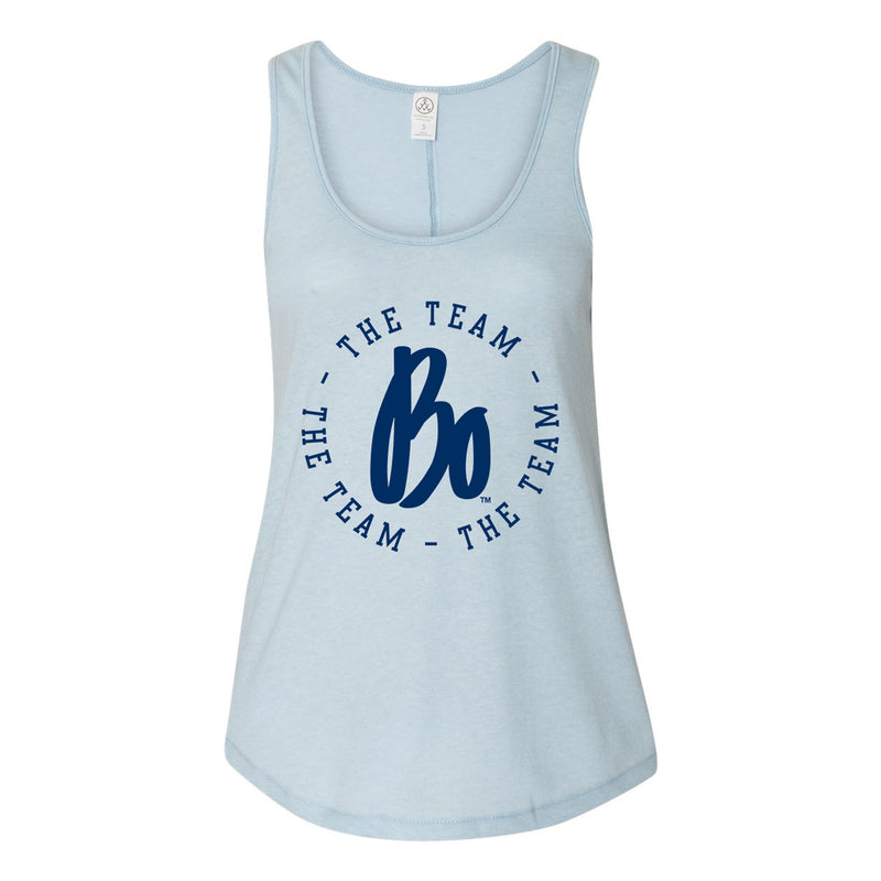BO TTT Circle Womens Backstage Vintage Tank - Blue Sky