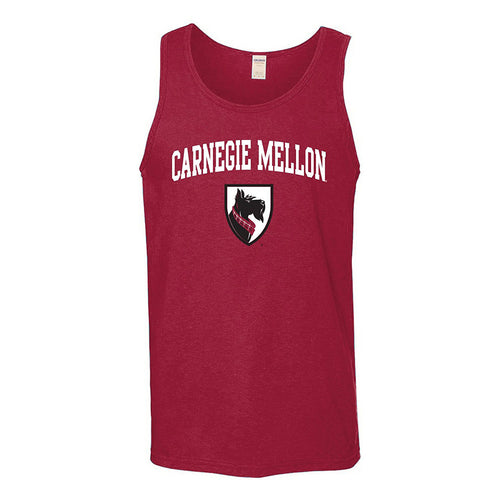 Arch Logo Carnegie Mellon Tartans Basic Cotton Tank Top - Cardinal