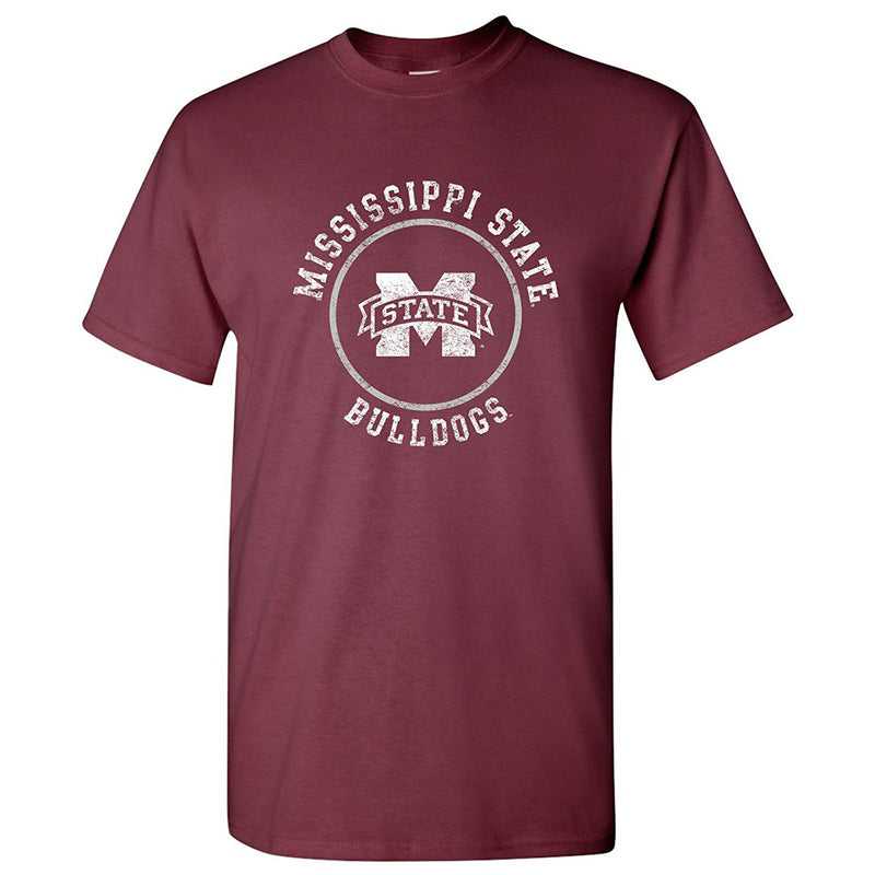 AS04 - Mississippi State Bulldogs Circle Logo - Maroon