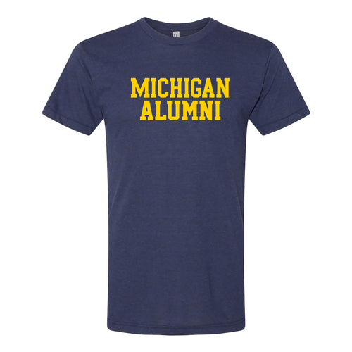 University of Michigan Alumni American Apparel Triblend Short Sleeve T Shirt - Tri-Indigo