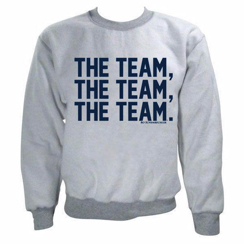 Bo Schembechler The Team The Team The Team Inside Out Crew - Sport Grey