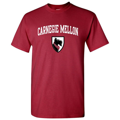 Carnegie Mellon University Tartans Arch Logo Short Sleeve T Shirt - Cardinal