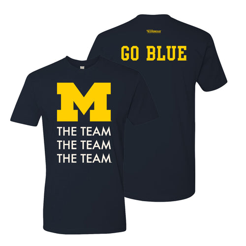 Michigan TTT Go Blue Tunnel NLA Tee - Midnight Navy