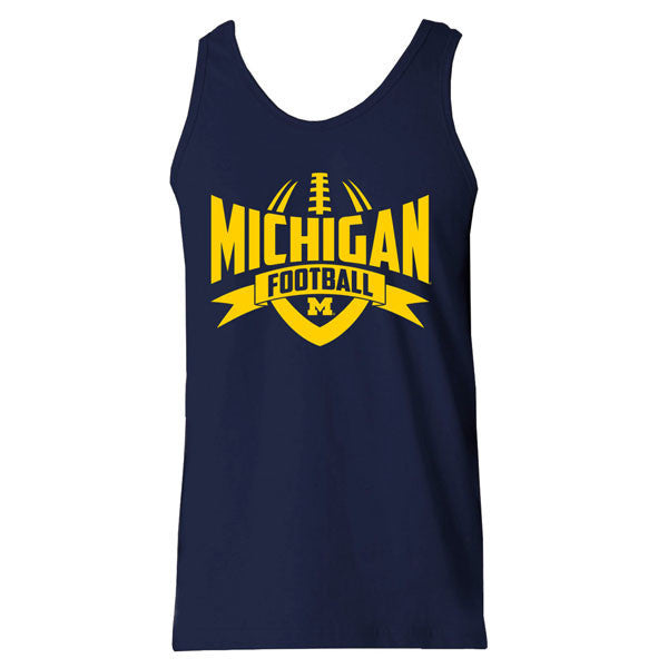 Michigan Football Rush Tank - Navy