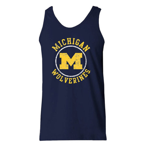 Michigan Circle Logo Tank - Navy