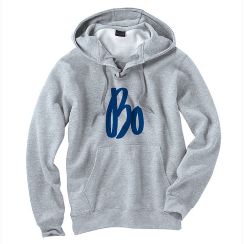Bo Sig Lace Up Hood - Grey