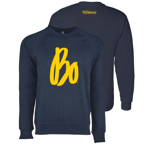 Bo Sig French Terry Raglan Crew -  Midnight Navy