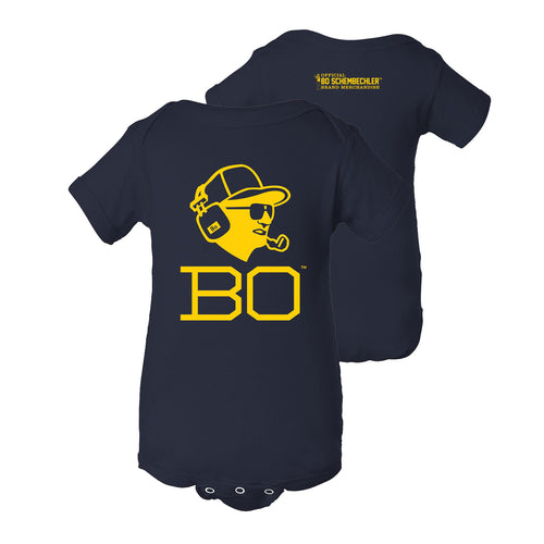 Bo Schembechler Headset Creeper - Navy