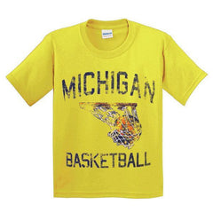 Michigan Faded BBall YTH - Daisy