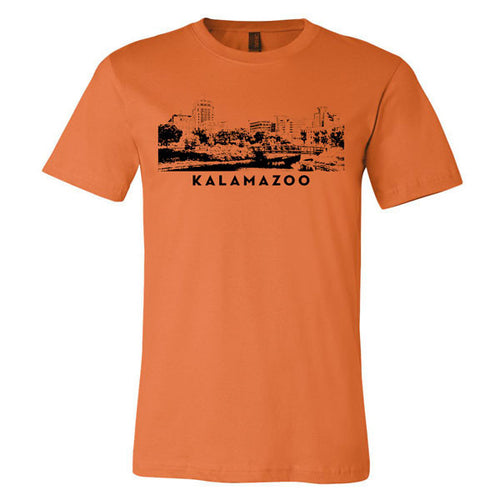Kalamazoo City Scape - Burnt Orange