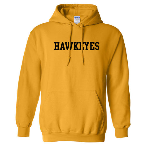 University of Iowa Basic Block Hawkeyes Heavy Blend Hoodie - Gold