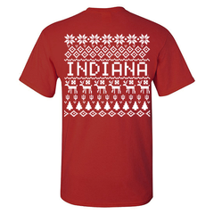 Indiana Holiday Sweater Tee - Cardinal