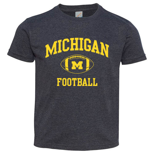 Michigan Football Arch Toddler Tee - Vintage Navy