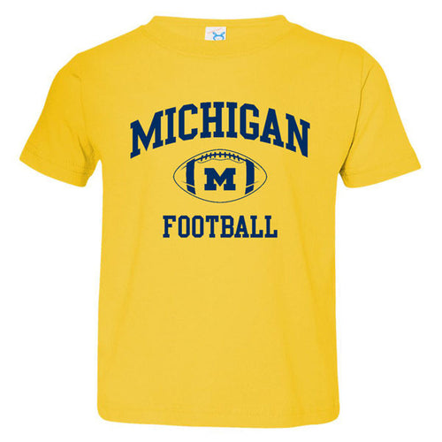 Michigan Football Arch Toddler Tee - Yellow