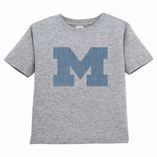Block M Distress RS Toddler - Heather Grey