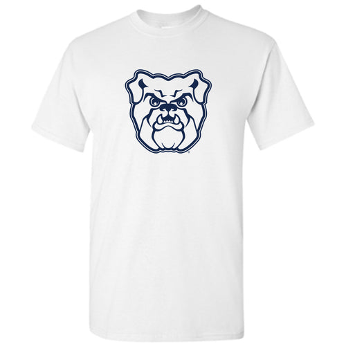 Butler University Bulldog Logo Short Sleeve T Shirt - White