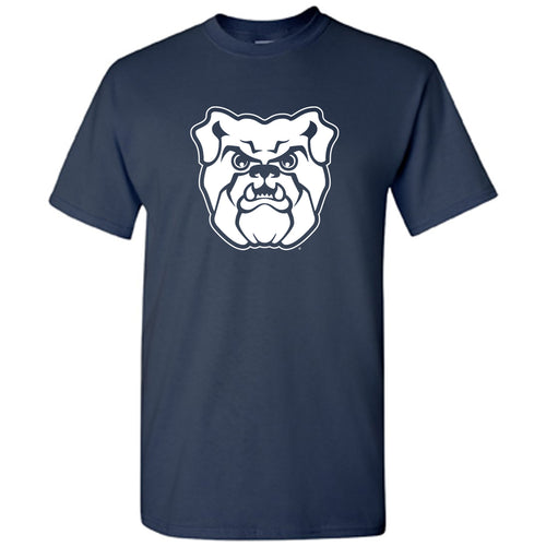 Butler University Bulldog Logo T Shirt Short Sleeve - Navy