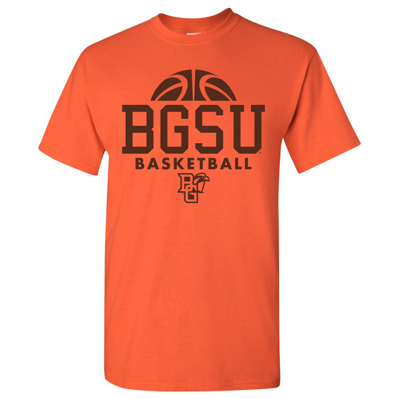 Bowling Green State University Falcons Basketball Hype Basic Cotton Short Sleeve T Shirt - Orange