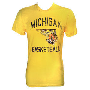 Michigan Faded BBall - Maize
