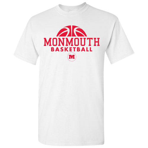 Monmouth College Fighting Scots Basketball Hype Short Sleeve T Shirt - White