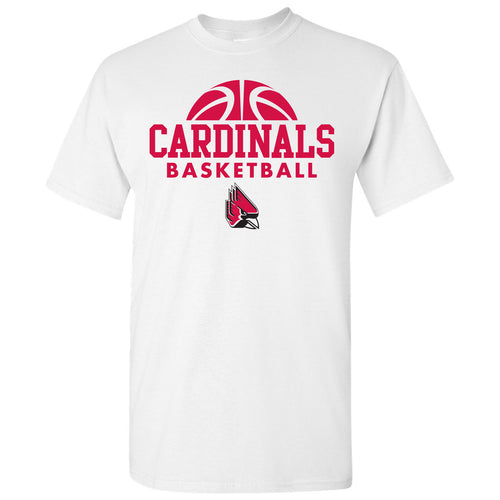 Ball State University Cardinals Basketball Hype Short Sleeve T Shirt - White