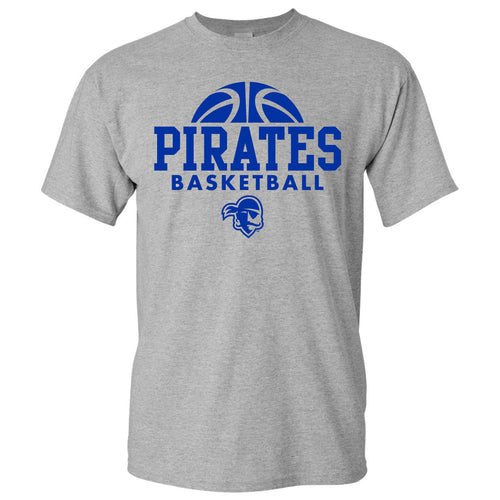 Seton Hall University Pirates Basketball Hype Short Sleeve T Shirt - Sport Grey