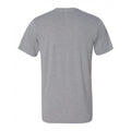 Indiana University Hoosiers Faded Block Football Canvas Triblend Short Sleeve T Shirt - Athletic Grey Triblend
