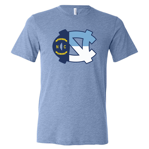 UNC Flag Logo - Blue Triblend