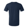 University of Michigan Wolverines Faded Football Helmet Canvas Short Sleeve Triblend T-Shirt - Solid Navy Triblend