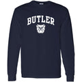 Butler University Bulldogs Arch Logo Long Sleeve T Shirt - Navy