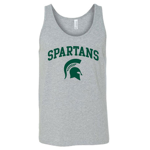 Arch Logo Michigan State Bella Jersey Tank - Athletic Heather